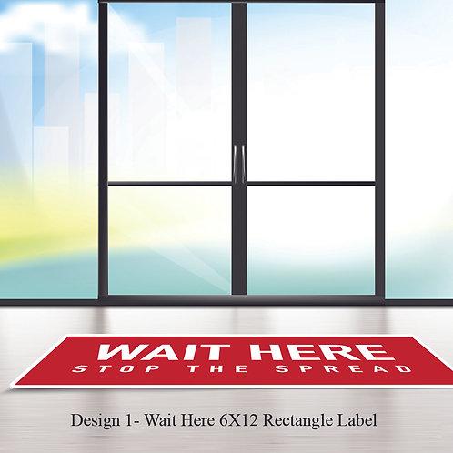 Social Distancing Floor Graphics-5-50 pcs. Removable Adhesive Vinyl 13 mil