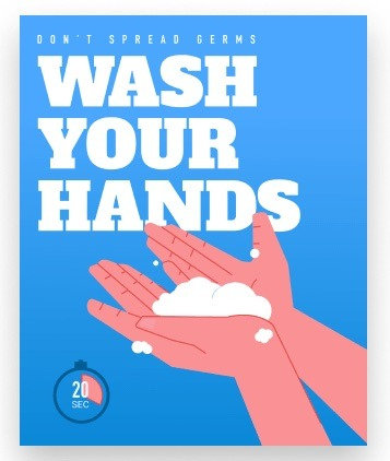 WASH YOUR HANDS HEALTH AND HYGIENE DECALS