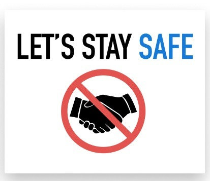 LET'S STAY SAFE HEALTH AND HYGIENE DECALS