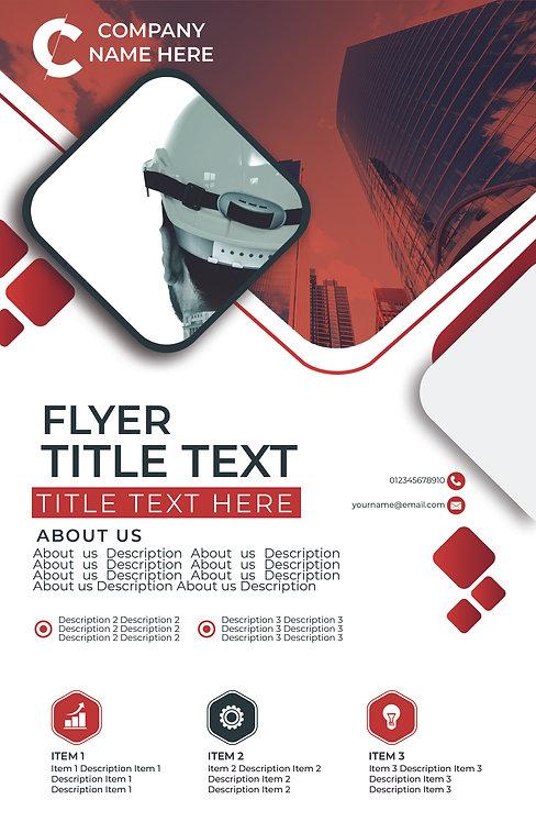 25-1000 High Gloss Business Flyer, 8.5X11 Modern Engineering Design