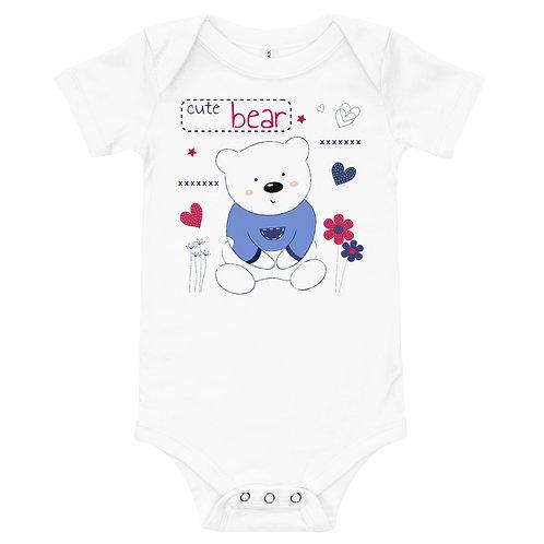 Cute bear  Full Color Printing Baby Bodysuit