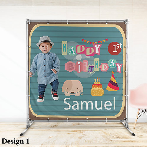 1st Birthday Animal Theme, Personalized 1st Birthday Banner
