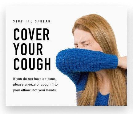 COVER YOUR COUGH HEALTH AND HYGIENE DECALS
