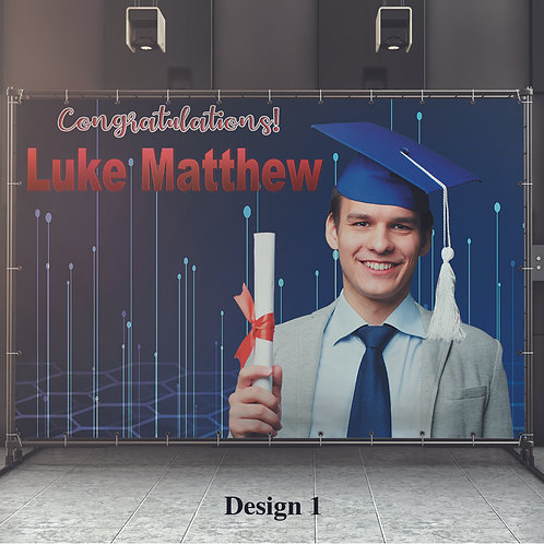 Graduation Open House Vinyl Banner, Personalized Banner