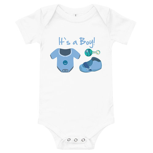 Personalized Baby One Piece - Bella + Canvas 100B It's a Boy