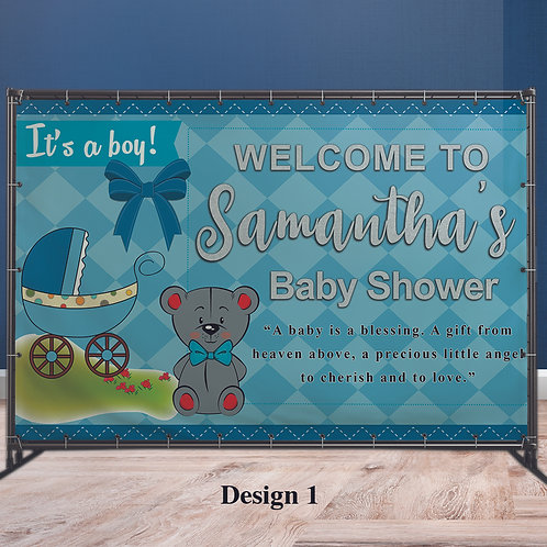 Baby Shower Vinyl Banner, Personalized Banner