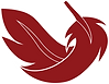 Feather icon red and white.png