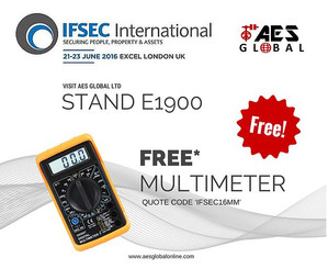 Free Multimeter only at IFSEC '16