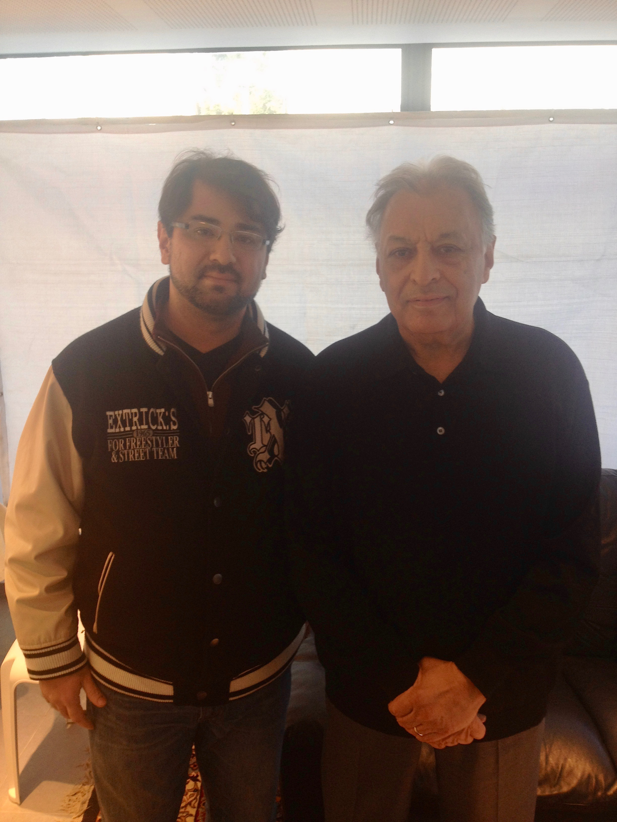With Mto Zubin Mehta