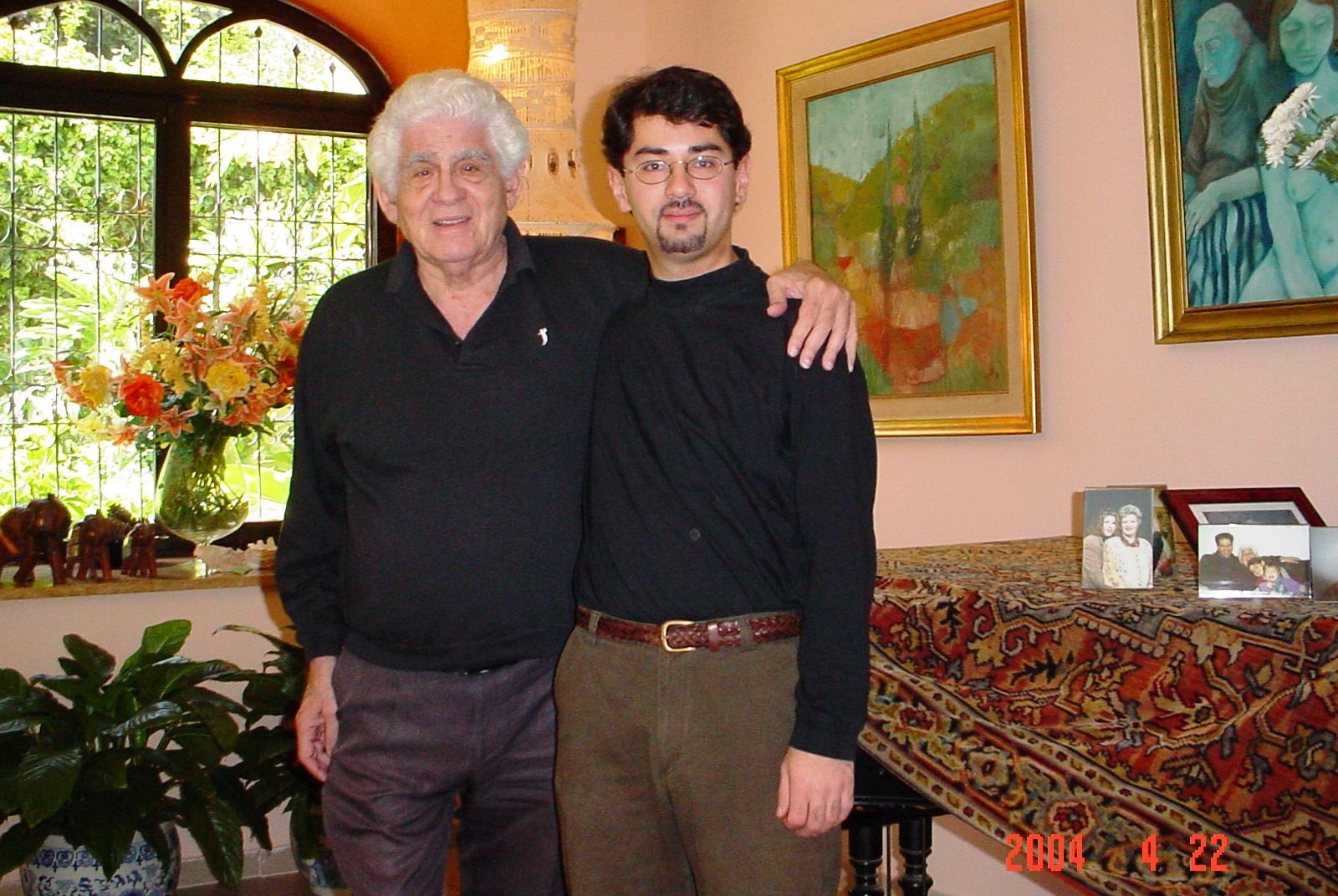 With the legend, Chaim Taub