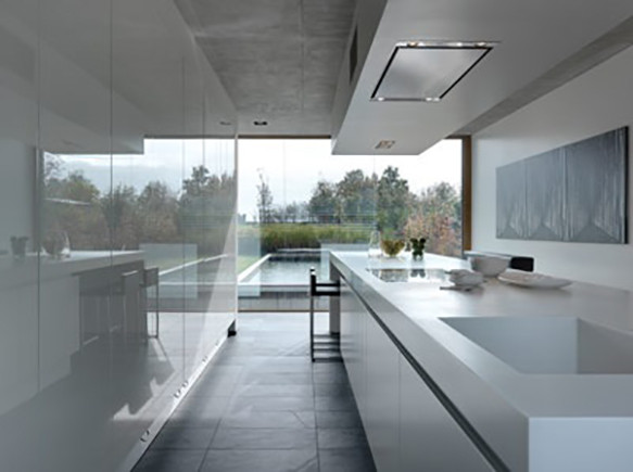 Example of kitchen's tranquility and flow