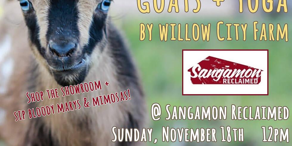 Goats + Yoga by Willow City Farm @ Sangamon Reclaimed