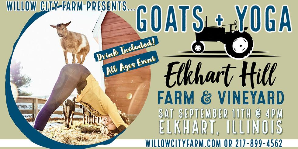Goats + Yoga @ Elkhart Hill Farm & Vineyard