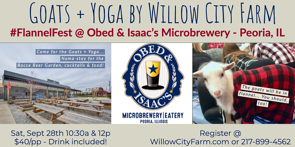 Goats + Yoga #FlannelFest @ Obed & Isaac's Microbrewery- Peoria, IL (1)