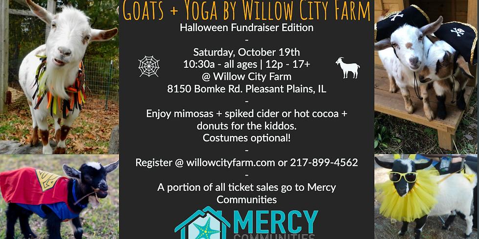 Goats & Alpacas + Yoga @ Willow City Farm  -  Mercy Communities Fundraiser