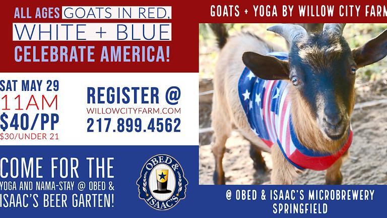 Obed + Isaacs Goats + Yoga #Celebrate America Edition
