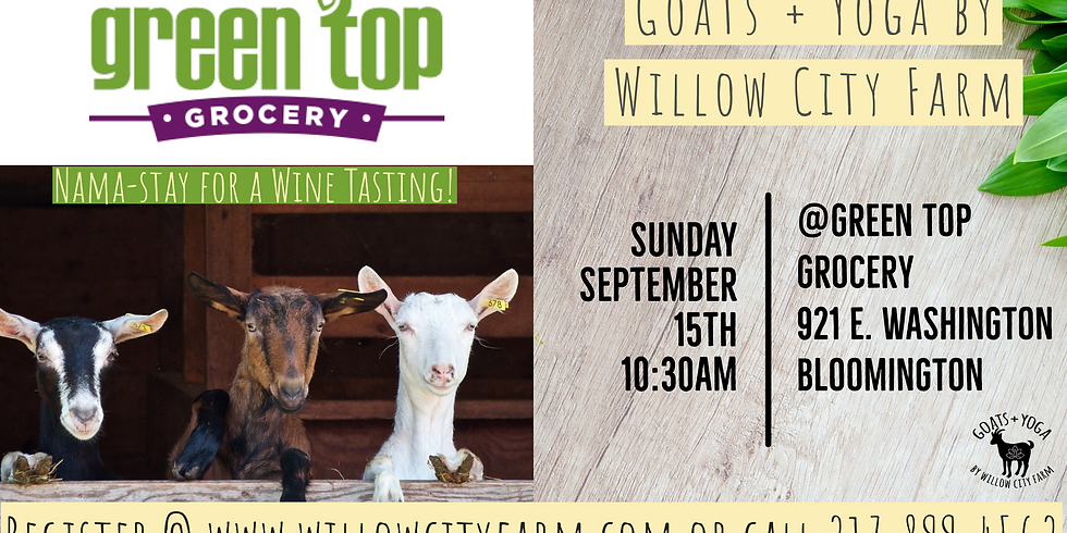 Goats + Yoga @ The Workout Company - Normal IL