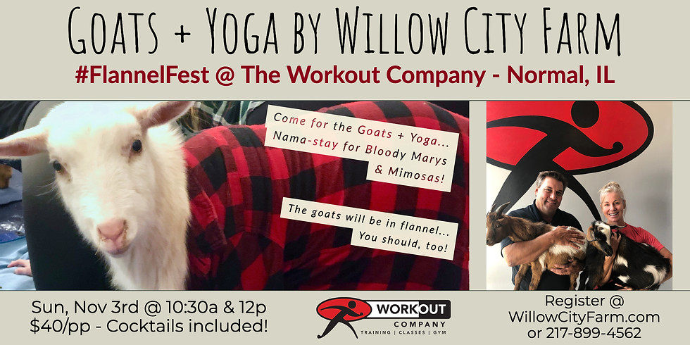 Goats + Yoga #FlannelFest @ The Workout Company - Normal, IL