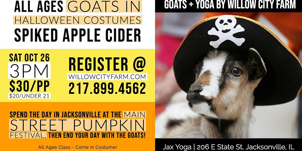 Goats (in costume!) + Yoga @ Jax Yoga