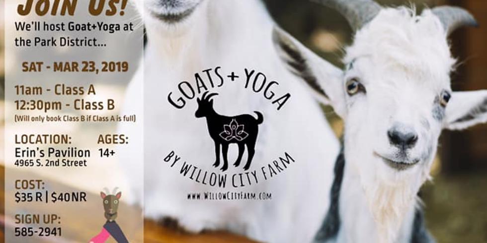 Springfield Park District - Goats + Yoga