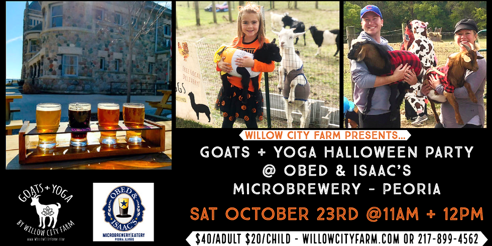 Goats  + Yoga Halloween Party @ Obed & Isaac's Microbrewery - Peoria
