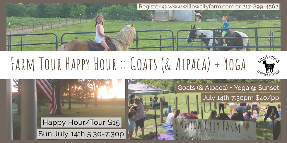 Open House / Goats & Alpacas + Yoga Class
