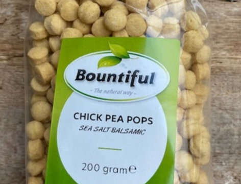 Chick pea pops seasalt/balsamico Bountiful (200 gr)