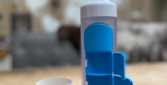 Yos bottle blauw (4 vaks/375 ml)
