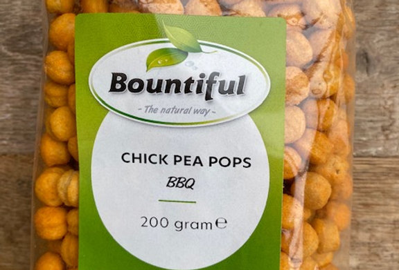 Chick pea pops BBQ Bountiful (200 gr)
