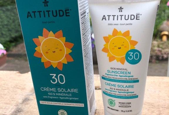 Baby zonnebrand SPF 30 Attitude geurvrij