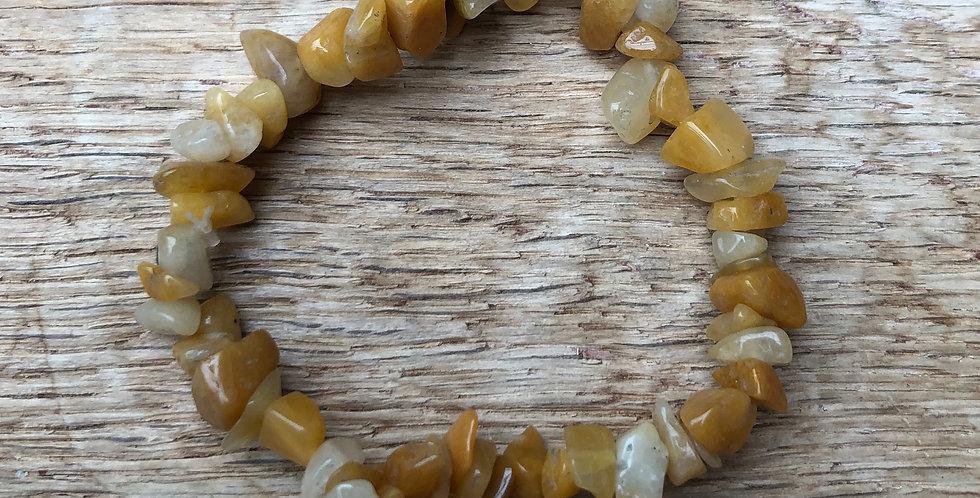 Armband gele jade (kind vanaf +/- 5 jr)