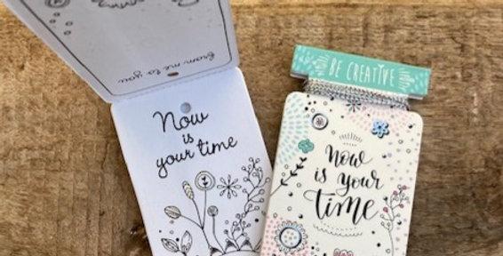 Kadokaartjes om zelf in te kleuren Your time (mint)