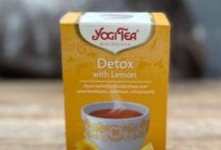 Detox with lemon tea Yogi bio (17 zakjes)