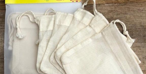 Theezakjes herbruikbaar organic cotton 5 st