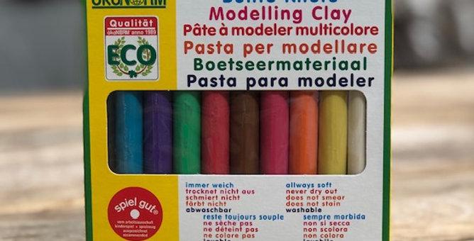 Boetseerklei kleuren staafjes 10 stuks