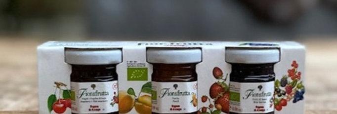 Mini-jam potjes Fiordi frutta 3 smaken bio (3x 25 gr)
