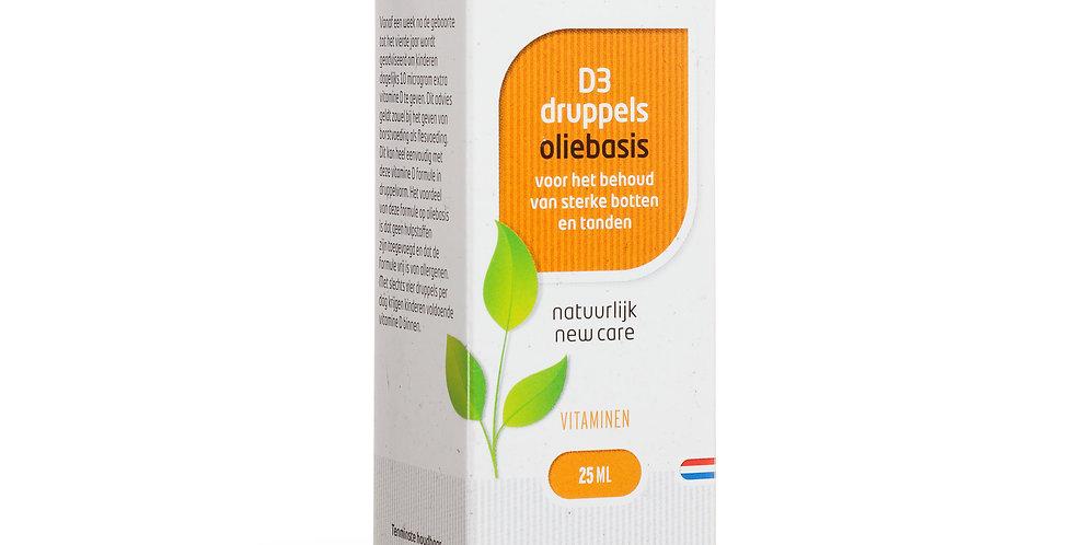 D3 druppels oliebasis 25 ml