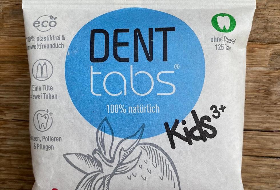 Kinder Tandenpoets tabletten zonder fluor - Aardbei (Denttabs)