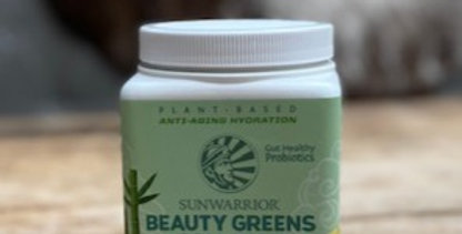 SUNWARRIOR BEAUTY GREENS COLLAGEN BOOSTER PINA COLADA (300 GRAM)