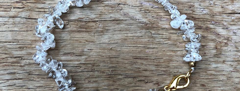 Armband Bergkristal met sluiting volwassenen