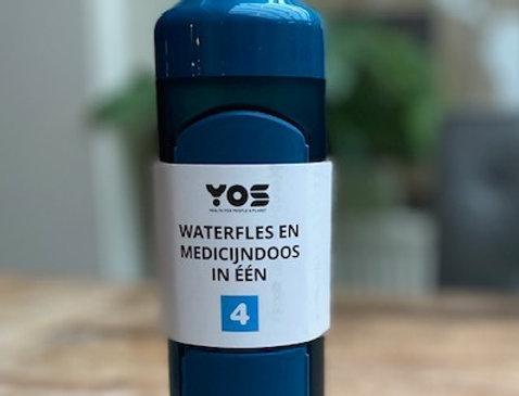 Yos bottle Daily Bold Blue (375 ml)