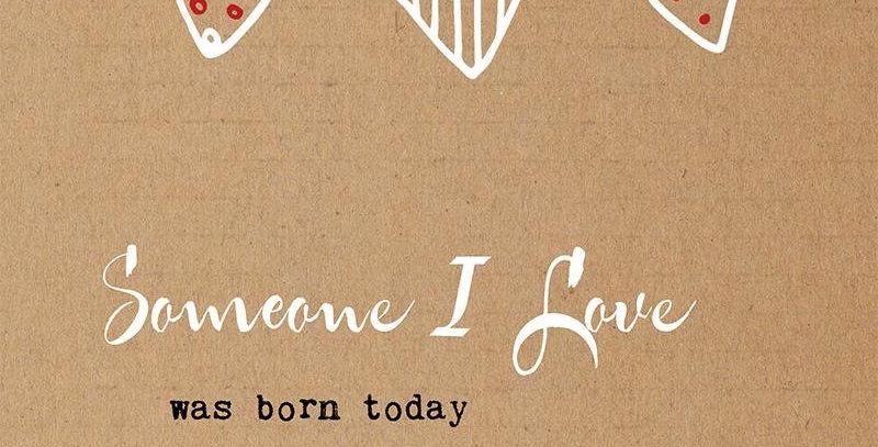 """Dubbele kaart + envelop: """"someone I love...."""""""