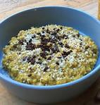 Golden Oats, een verwarmend ontbijt! (glutenvrij/vegan/exorfinevrij)