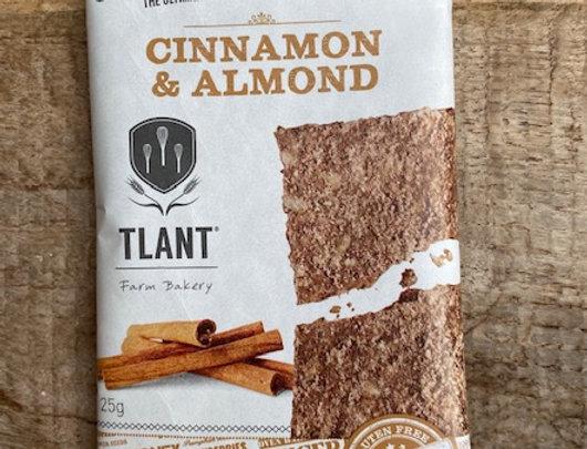 Granola cracker cinnamon en almond Tlant glutenvrij/bio