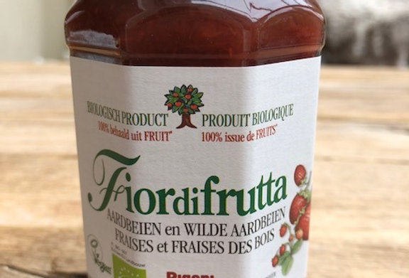 Fiordifrutta bio aardbeien en wilde aardbeienspread 250 gr
