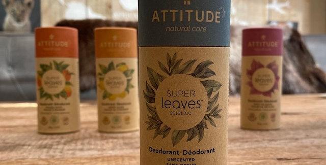 Natuurlijke deodorant Attitude/Leaves  GEURVRIJ! (85 gr)