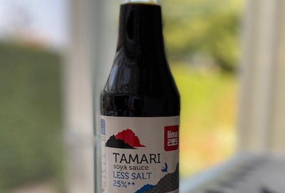 Tamari 25% minder zout (250 ml)