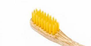 Nordics bamboe kindertandenborstel geel