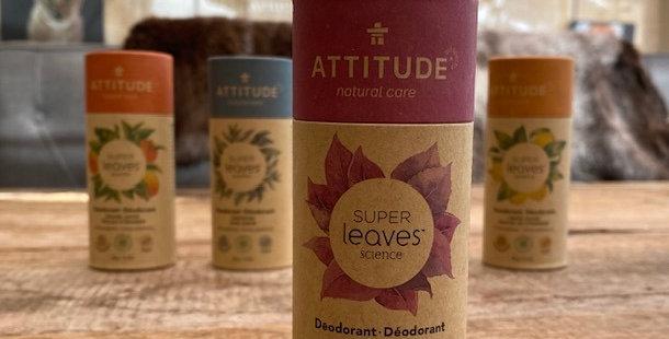 Natuurlijke deodorant Attitude/Leaves  white tea leaves (85 gr)