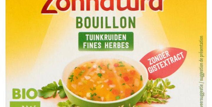 Zonnatura Fine herbstock bouillon zonder gist 6 bl